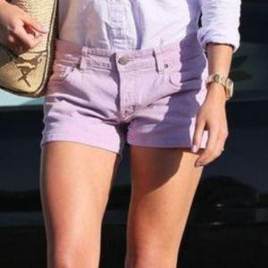 Levi's 501 Button-Fly Lavender Denim Shorts 29